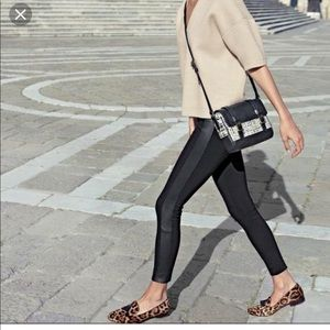 JCREW leggings with leather sides